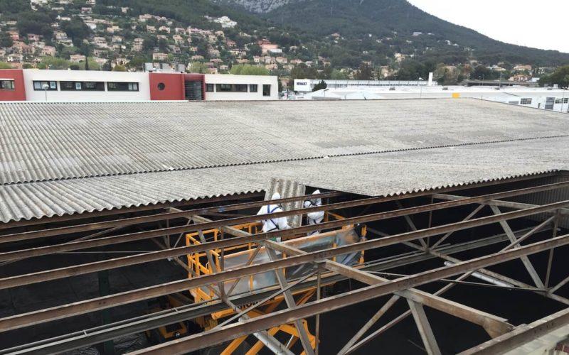 opération désamiantage la valette (Var) par GMC Construction